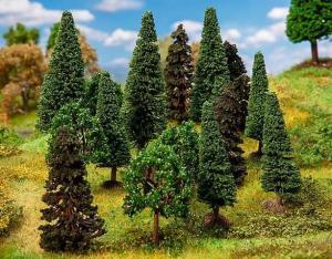 Новинка 2019!Модели 15-ти смешанных лесных деревьев отсортированных.Пр-во FALLER.Арт.181529.Масштабы НО-ТТ (1:87-1:120).