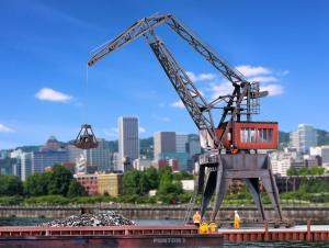 Модель портового козлового крана.Пр-во KIBRI.Арт.38510.Масштаб НО (1:87).