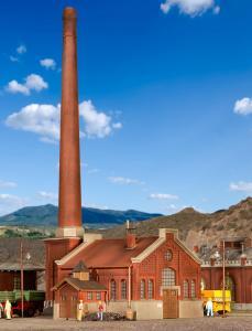 Модель здания котельной с трубой.Пр-во KIBRI.Арт.39821.Масштаб НО (1:87).