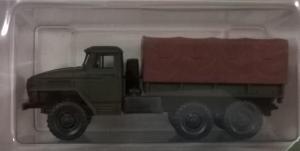 Модель УрАЛ 4320 борт-тент коричневый.Пр-во MINITANKS.Масштаб 1:87 (НО).