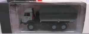 Модель КАМАЗ 4310 борт-тент серый