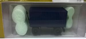 Модель 2-х осного прицепа с контейнером.Пр-во MINITANKS.Масштаб 1:87 (НО).