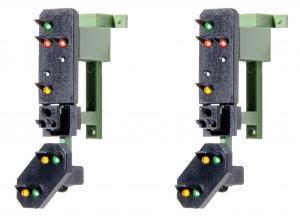 Модель выходных светофоров 2шт с предварительным сигналом (мультиплекс технология).Пр-во VIESSMANN.Арт.4751.Масштаб НО (1:87).