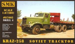 Модель КрАЗ 258 седельный тягач (для самостоятельной сборки).Пр-во SMK-Z@Z.Арт.87002.Масштаб 1:87 (НО).