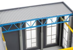 Модель 4-х металлических ферм для крыши промышленного цеха Goldbeck.Пр-во FALLER.Арт.180885.Масштаб НО (1:87).