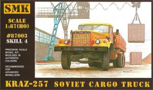 Модель КрАЗ 257 бортовой (для самостоятельной сборки).Пр-во SMK-Z@Z.Арт.87003.Масштаб 1:87 (НО).