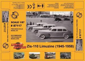 Модель ZIS-110 Limuzine 1945-1958 (для самостоятельной сборки).Пр-во Z@Z.Арт.87117.Масштаб 1:87 (НО).