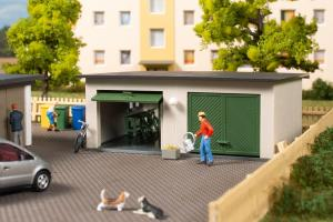 Модель двойных гаражей.Пр-во Аухаген.Арт.11456.Масштаб НО (1:87).
