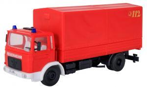 Модель 2-х осного пожарного грузовика MAN в варианте борт-тент.Пр-во KIBRI.Арт.18269.Масштаб НО (1:87).