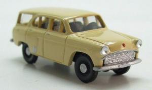 Модель Москвич 411-готовая модель (цвет бежевый).Пр-во Z@Z.Масштаб 1:87 (НО).
