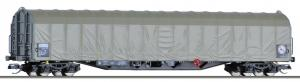 Модель крытого тентованого 4-х осного вагона.Пр-ва TILLIG.Арт.15749.Масштаб ТТ (1:120).
