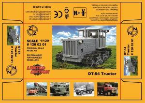 Модель трактора ДТ-54-для самостоятельной сборки.Пр-во Z@Z.Арт.120 02 01.Масштаб 1:120 (ТТ).