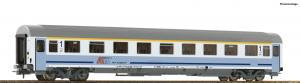 Модель пассажирского 4-х осного вагона скорого поезда типа IC,вагон 1-го класса.Пр-во ROCO.Арт.54172.Масштаб НО (1:87).