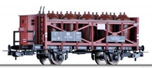 Акция!!!Модель 2-х осного вагона с тормозной будкой для перевозки кислоты.Пр-во TILLIG.Арт.76663.Масштаб НО (1:87).