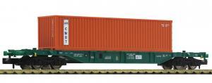 Акция!!!Модель 4-х осной платформы с 40-футовым контейнером.Пр-во Fleischmann.Арт.825212.Масштаб N (1:160).