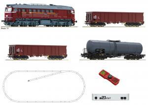 Цифровой стартовый набор MULTIMAUS + z21 с тепловозом и 3-мя грузовыми вагонами  z21 start Digitalset: Diesellokomotive BR 120 mit Güterzug.Пр-во ROCO.Арт.51331.Масштаб НО (1:87).
