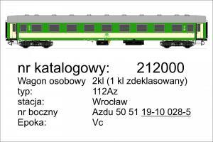 Модель 4-х осного пассажирского вагона 2-го класса(переделанный из 1-го класса) типа 112Az.Пр-во ROBO.Арт.212000.Масштаб НО (1:87).