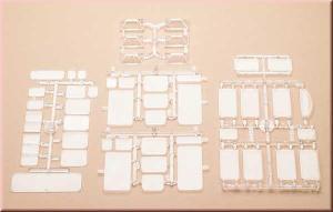 Модели стекол от окон и элементов освещания.Пр-во Аухаген.Арт.48251.Масштаб НО-ТТ (1:87-1:120).