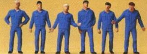 Сет механики в униформе.Фирма PREISER.Арт.14031.Масштаб НО (1:87).