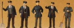 Сет железнодорожный персонал Пруссии 1900года-машинист и др.Фирма PREISER 12191.Масштаб НО (1:87).
