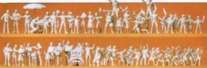 Сет 60-ти фигурок празднующих(некрашенных).Фирма PREISER 16342.Масштаб НО (1:87).