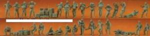 Сет с 30-тью фигурками солдат Бундесвера (некрашенных).Фирма PREISER.Арт.16508.Масштаб НО (1:87).