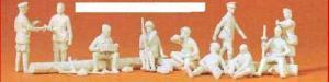Сет с 10-тью фигурками пехоты СССР в 1942году (некрашенных).Фирма PREISER.Арт.16526.Масштаб НО (1:87).