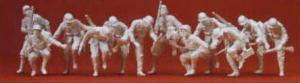 Сет с 12-тью фигурками танкистов-гренадеров (некрашенных).Фирма PREISER 16528.Масштаб НО (1:87).