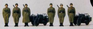 Сет с 6-тью фигурками мотоциклистов с 2-мя мотоциклами с колясками (некрашенные).Фирма PREISER Арт.16571.Масштаб НО (1:87).