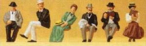 Сет сидящих пассажиров в 1900году.Фирма PREISER 12190.Масштаб НО (1:87).