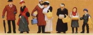 Сет стоящих людей в Рождество 1900года.Фирма PREISER 12195.Масштаб НО (1:87).