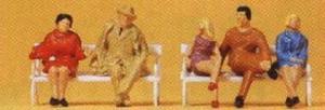 Сет сидящих людей.Фирма PREISER.Арт.14101.Масштаб НО (1:87).
