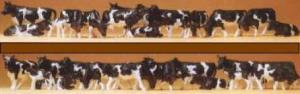 Сет 30 фигурок - коров.Фирма PREISER.Арт.14408.Масштаб НО (1:87).