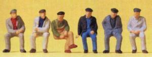 Сет сидящие рабочие.Фирма PREISER.Арт.14084.Масштаб НО (1:87).