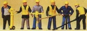 Сет группа рабочих при сооружении рельсового пути.Фирма PREISER.Арт.10035.Масштаб НО (1:87).