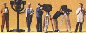 Сет кино-группа и телевизионная группа.Фирма PREISER.Арт.10062.Масштаб НО (1:87).