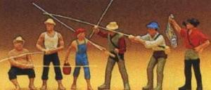 Сет рыболовы и спортивная рыбалка.Фирма PREISER.Арт.10077.Масштаб НО (1:87).