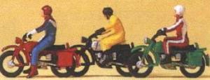 Сет мотоциклисты на Hercules.Фирма PREISER.Арт.10081.Масштаб НО (1:87).