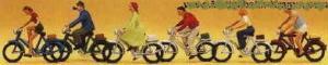 Сет велосипедисты.Фирма PREISER.Арт.10091.Масштаб НО (1:87).