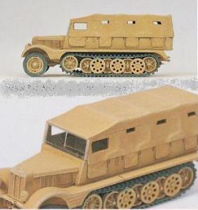Сет сборная модель (SdKfz 11),закрытый верх,Немецкий Рейх в 1939-1945.Фирма PREISER.Арт.16562.Масштаб НО (1:87).