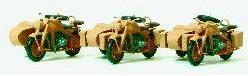 Сет сборная модель,мотоцикл Zuendapp KS 750,3 мотоцикла коляской, некрашенные,Немецкий Рейх в 1939-1945.Фирма PREISER.Арт.16563.Масштаб НО (1:87).