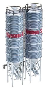 2 промышленные силосные башни.Производство FALLER.Арт.130476.Масштаб НО (1:87).