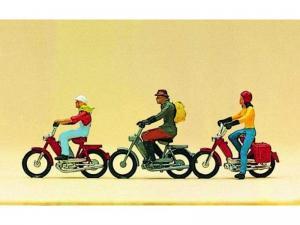 Сет из 3-х мотоциклов с людьми.Пр-во PREISER.Арт.10125.Масштаб HO (1:87).