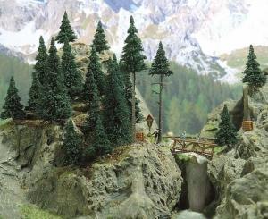 Модель лесной комплект.Пр-во BUSCH.Арт.6478.Масштаб НО (1:87).