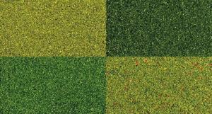 Комплект из 4-х травяных присыпок.Пр-во BUSCH.Арт.7050.Масштаб НО (1:87).