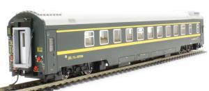 Вагон пассажирский общий типа YZ25T (с освещением).Пр-во BACHMANN CHINA.Арт.CP01606.Масштаб НО (1:87).