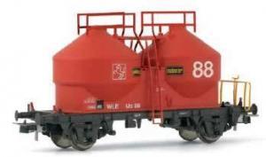 2-х осный вагон силосный типа Ucs.Пр-во RIVAROSSI.Арт.HR6104.Масштаб НО (1:87).