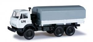 Модель КАМАЗ 5320 бортовой с тентом UN.Пр-во MINITANKS.Арт.744867.Масштаб 1:87 (НО).