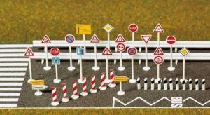 Модель набора транспортных знаков.Пр-во BUSCH.Арт.6027.Масштаб НО (1:87).