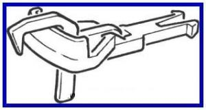 Комплект сцепок (2шт) с петлей и крючком.Пр-во ROCO.Арт.40244.Масштаб НО (1:87).